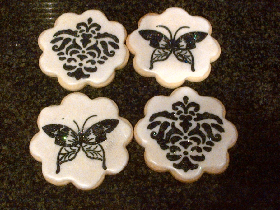 Stencilled Cookies on Cake Central