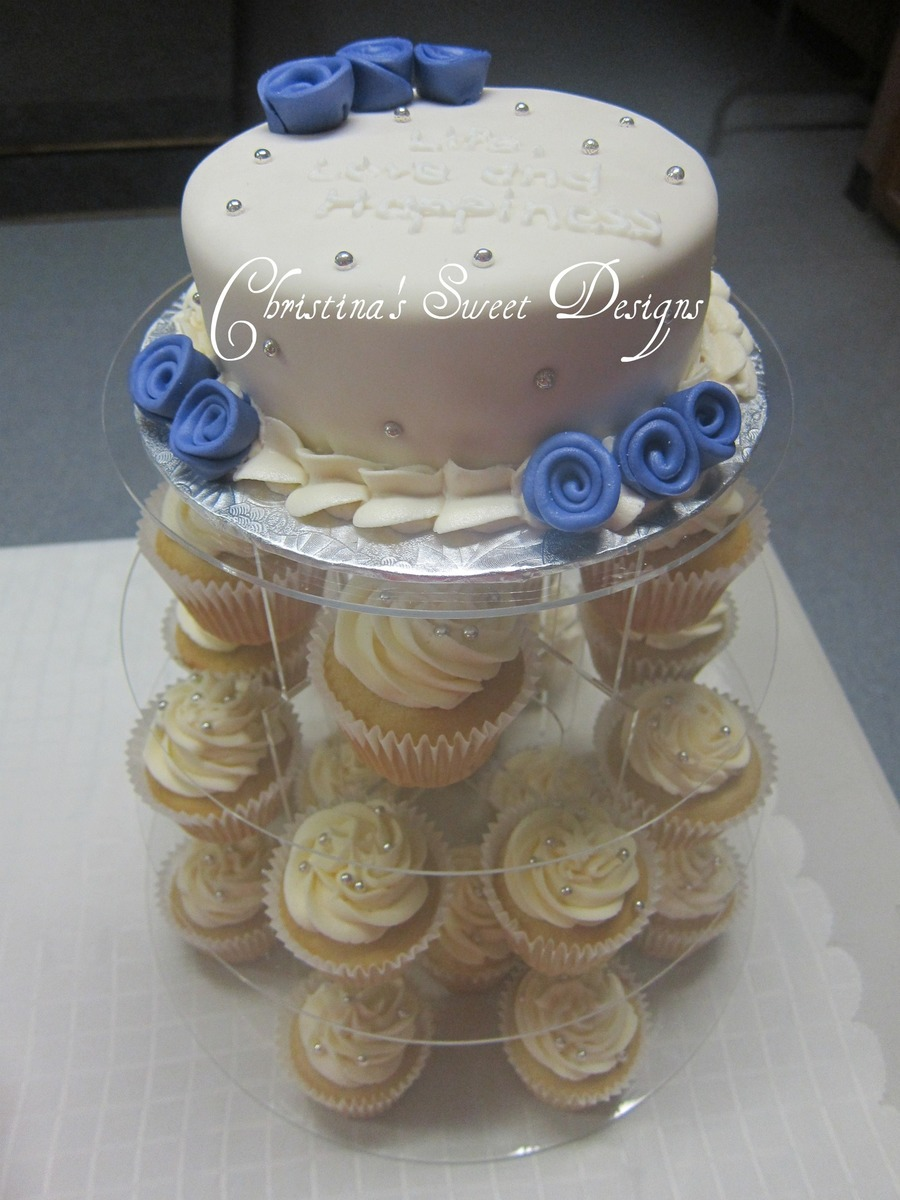cupcake bridal shower stand on cake central