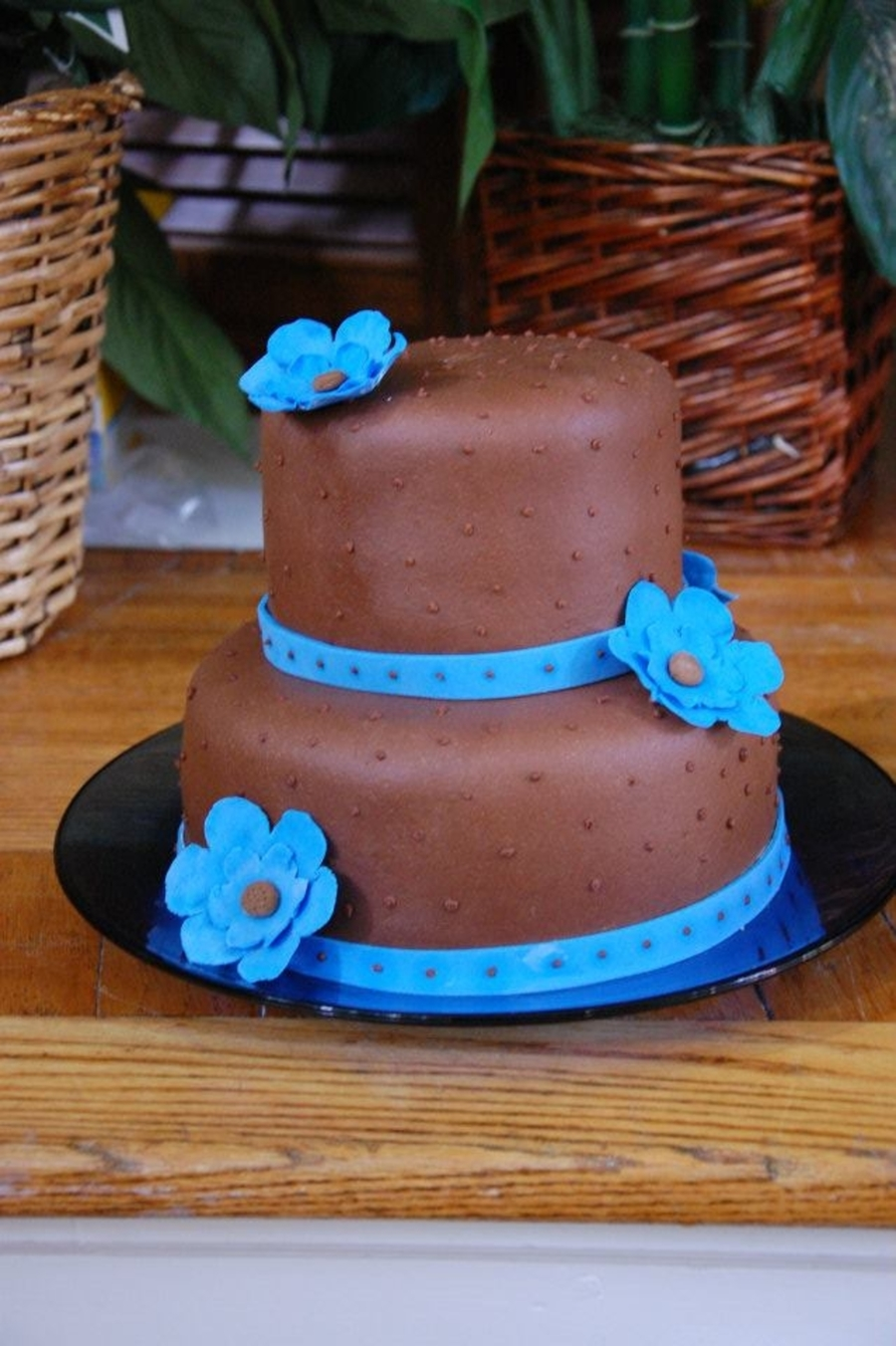 Blue And Brown Bridal Shower on Cake Central
