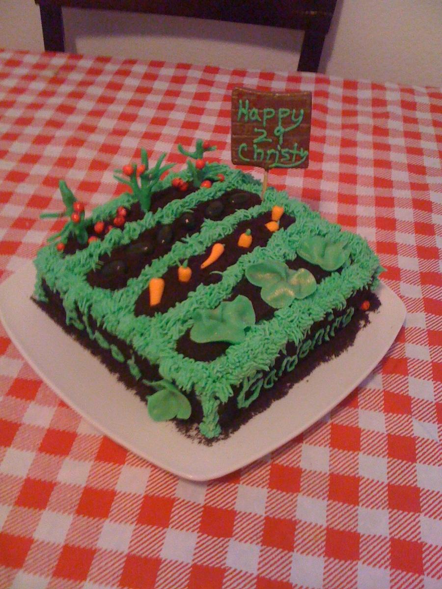 Garden Cake (Christy\'s 29Th Birthday) - CakeCentral.com