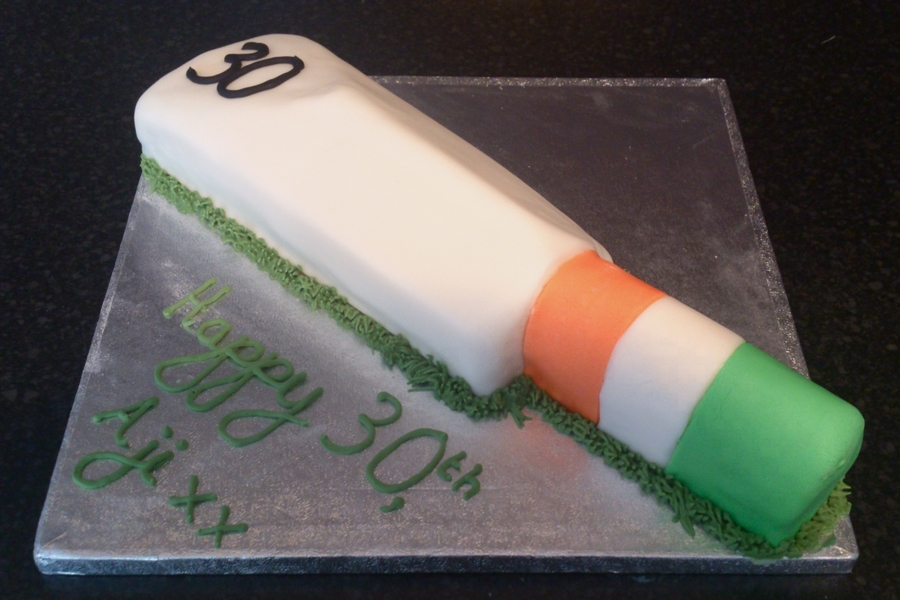 Cricket Bat Cake on Cake Central