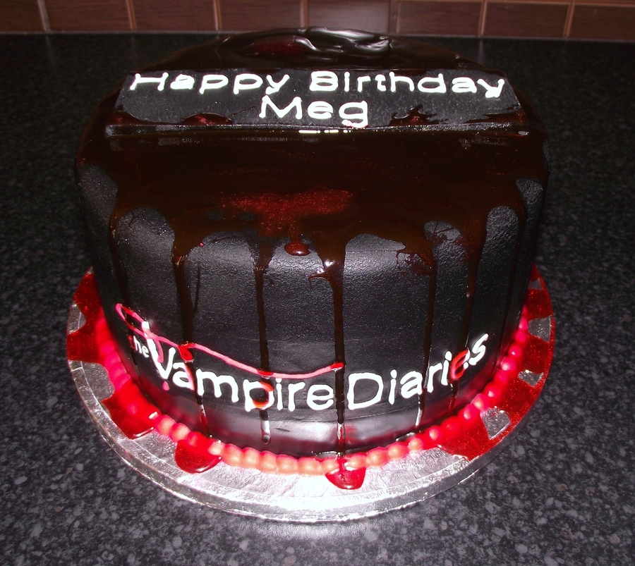 Vampire Diaries Theme Cakecentral