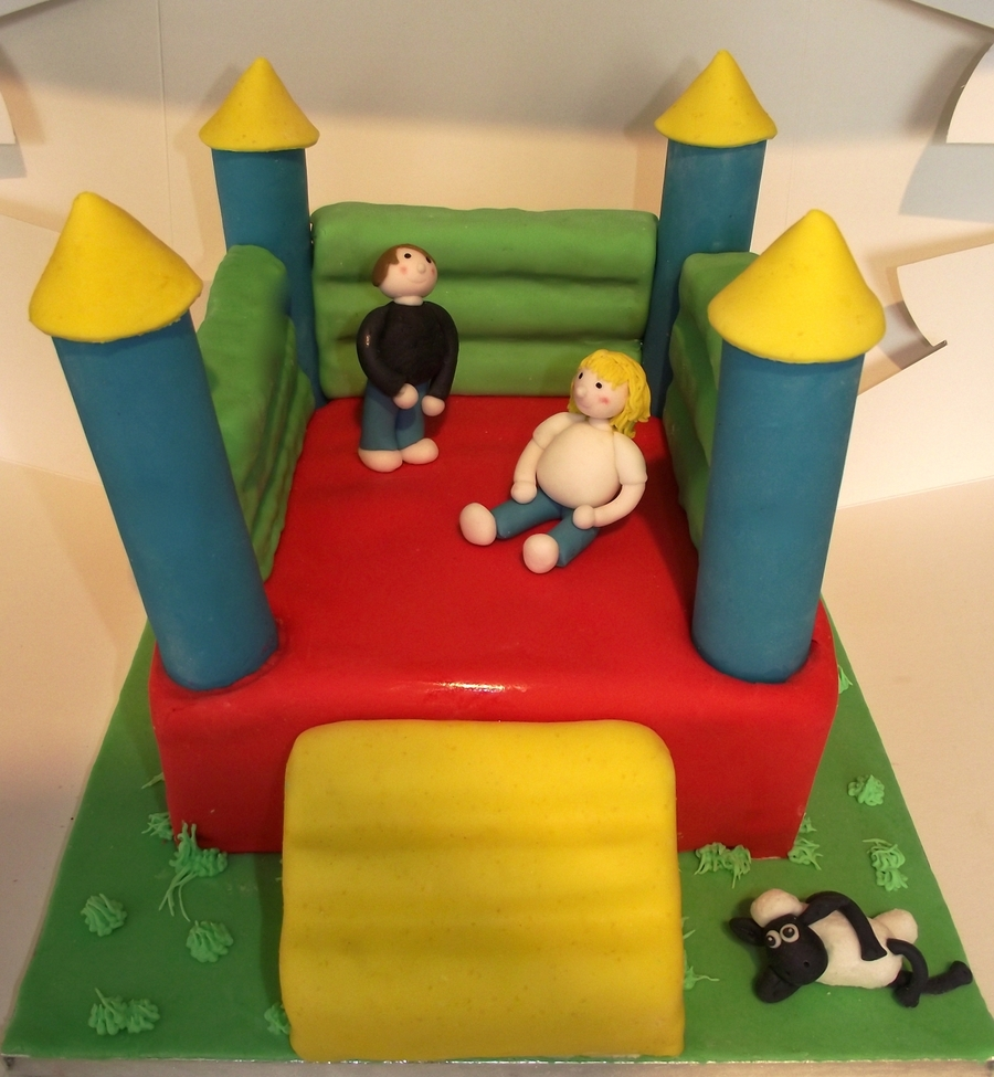 bouncy castle cake - cakecentral