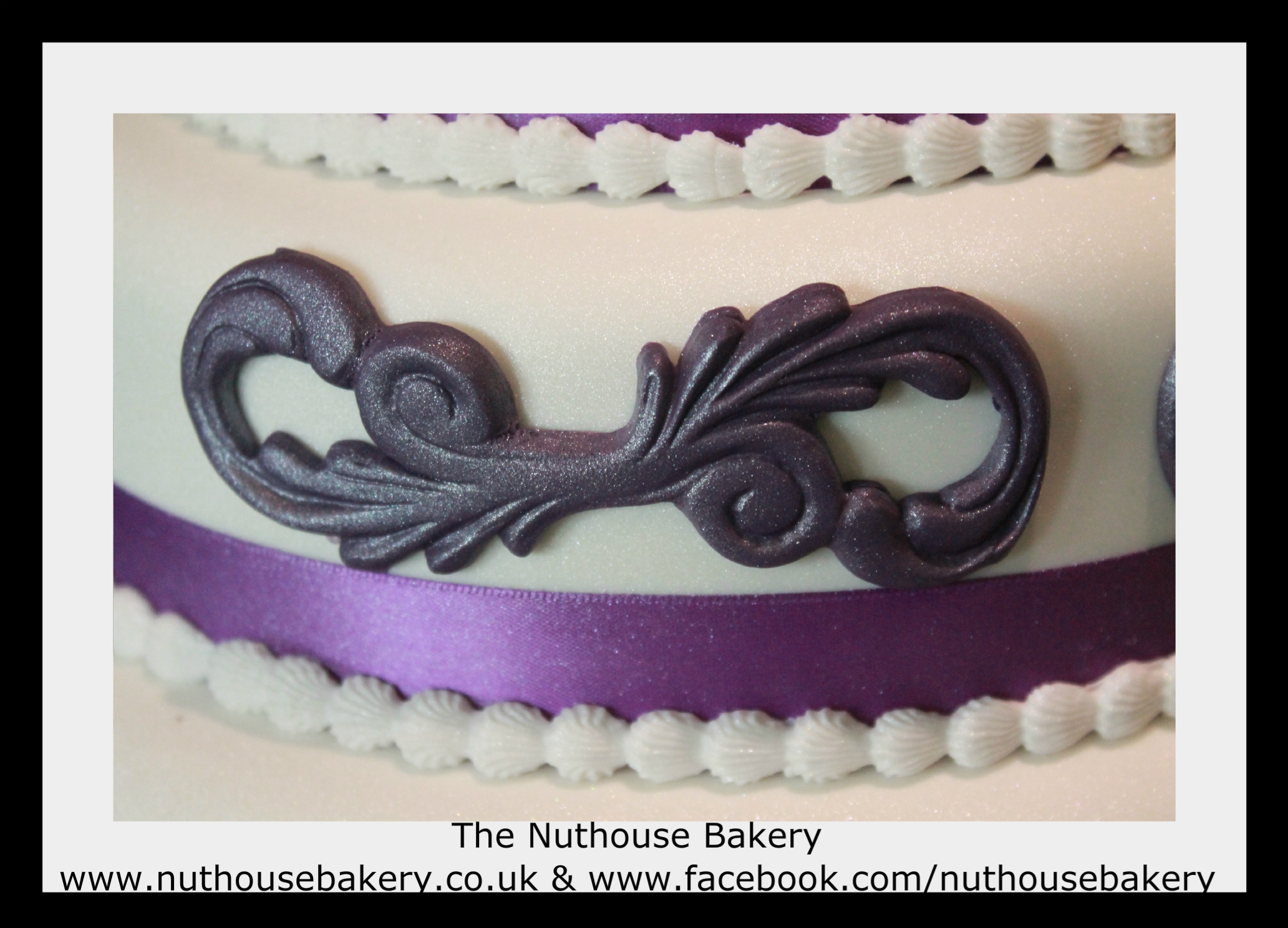 Purple And Silver Wedding Cake CakeCentral