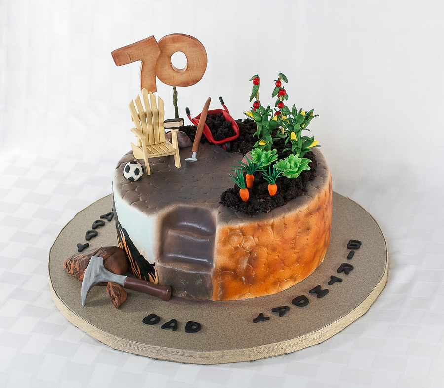 Geology birthday cake
