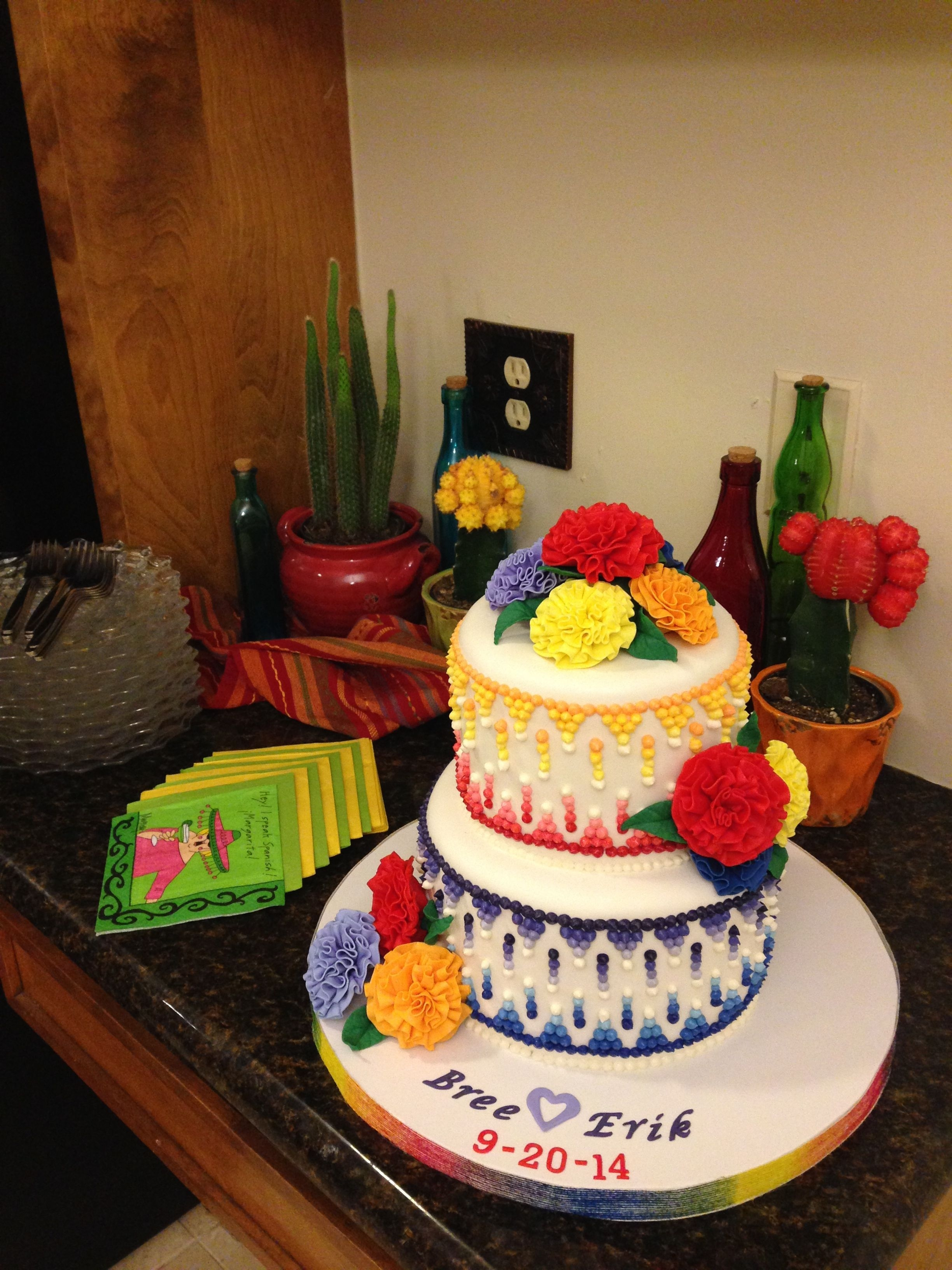 Mexican Theme Bridal Shower Cake Cakecentral Com