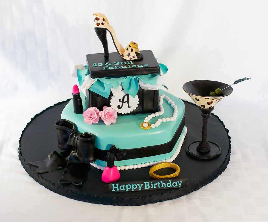Magnificent 40Th Girly Birthday Cake Cakecentral Com Funny Birthday Cards Online Eattedamsfinfo