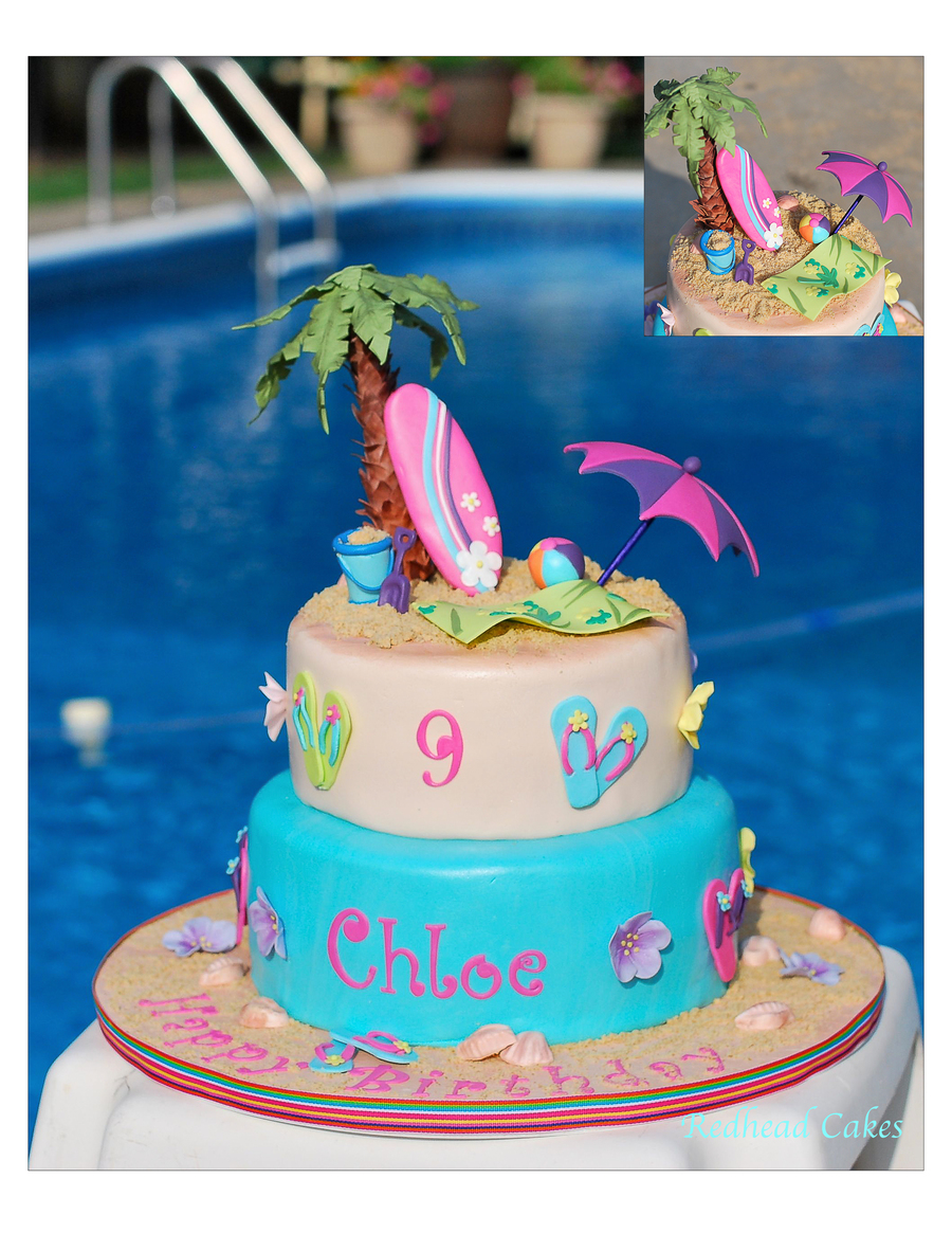 Surfboard/beach Cake on Cake Central