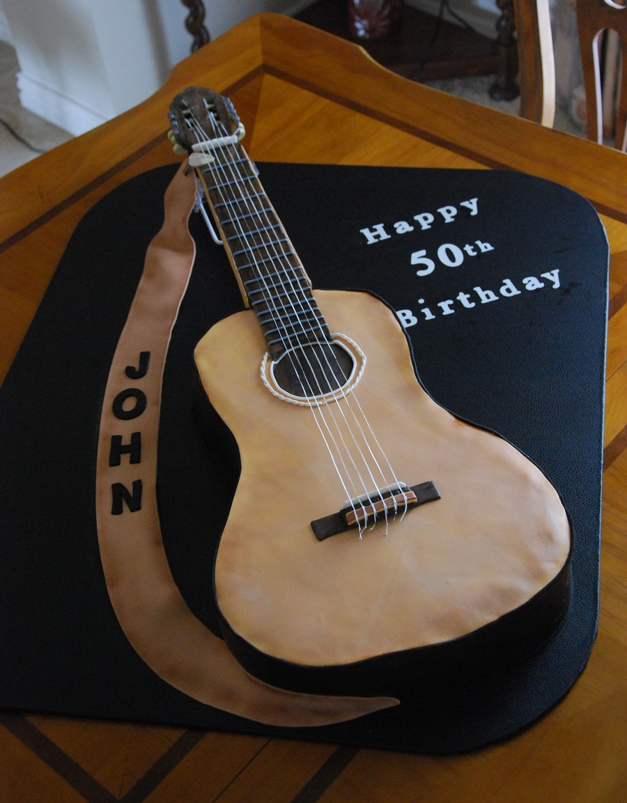 Acoustic Guitar Cake Images : Acoustic Guitar 50Th Birthday Cake - CakeCentral.com
