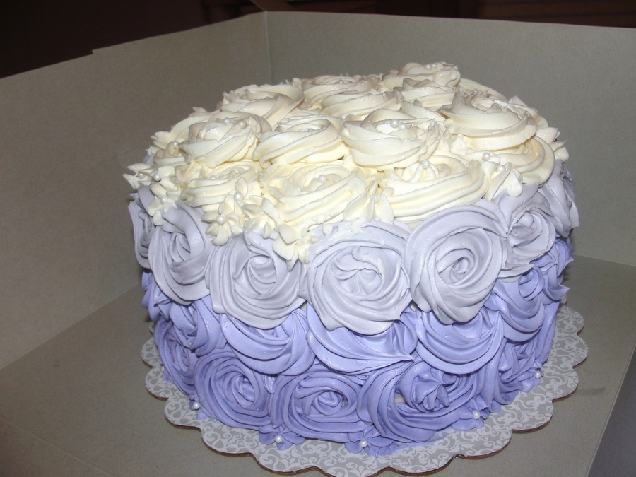 First Ombre Rose Cake on Cake Central