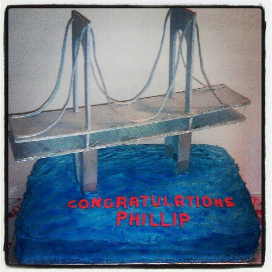 Bridge Graduation Cake on Cake Central