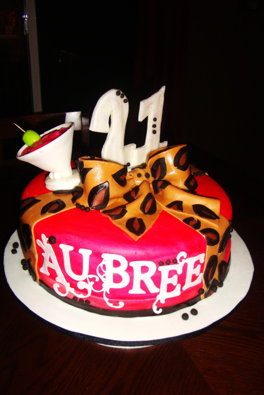 Cheetah First Birthday Cake