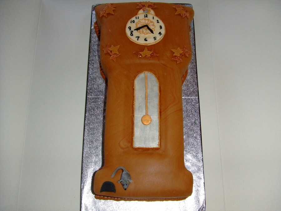 Grandfather Clock Birthday Cake on Cake Central