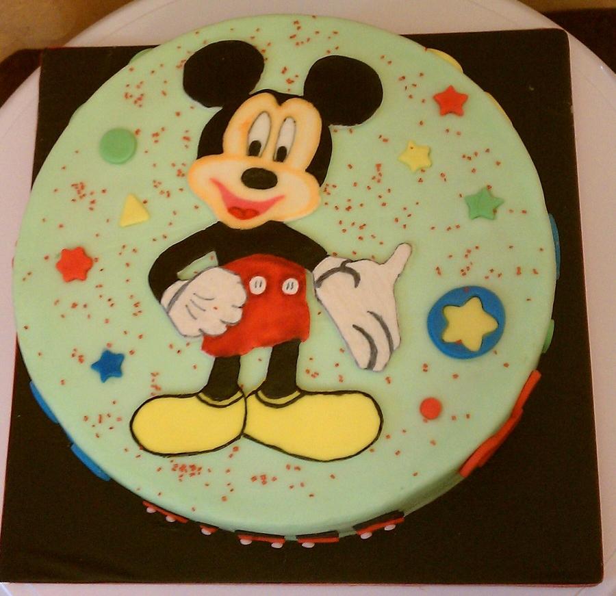 Mickey Mouse Smash Cakes Buttercream: 3Tier Buttercream Mickey Mouse 1St Bday Themed Cake Wih