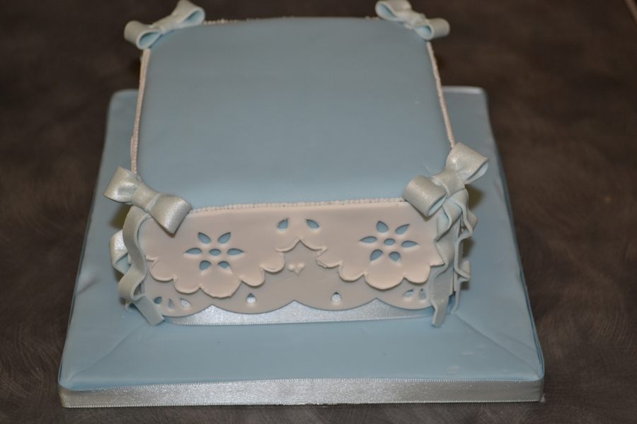 Blue Lace Work Cake - CakeCentral.com
