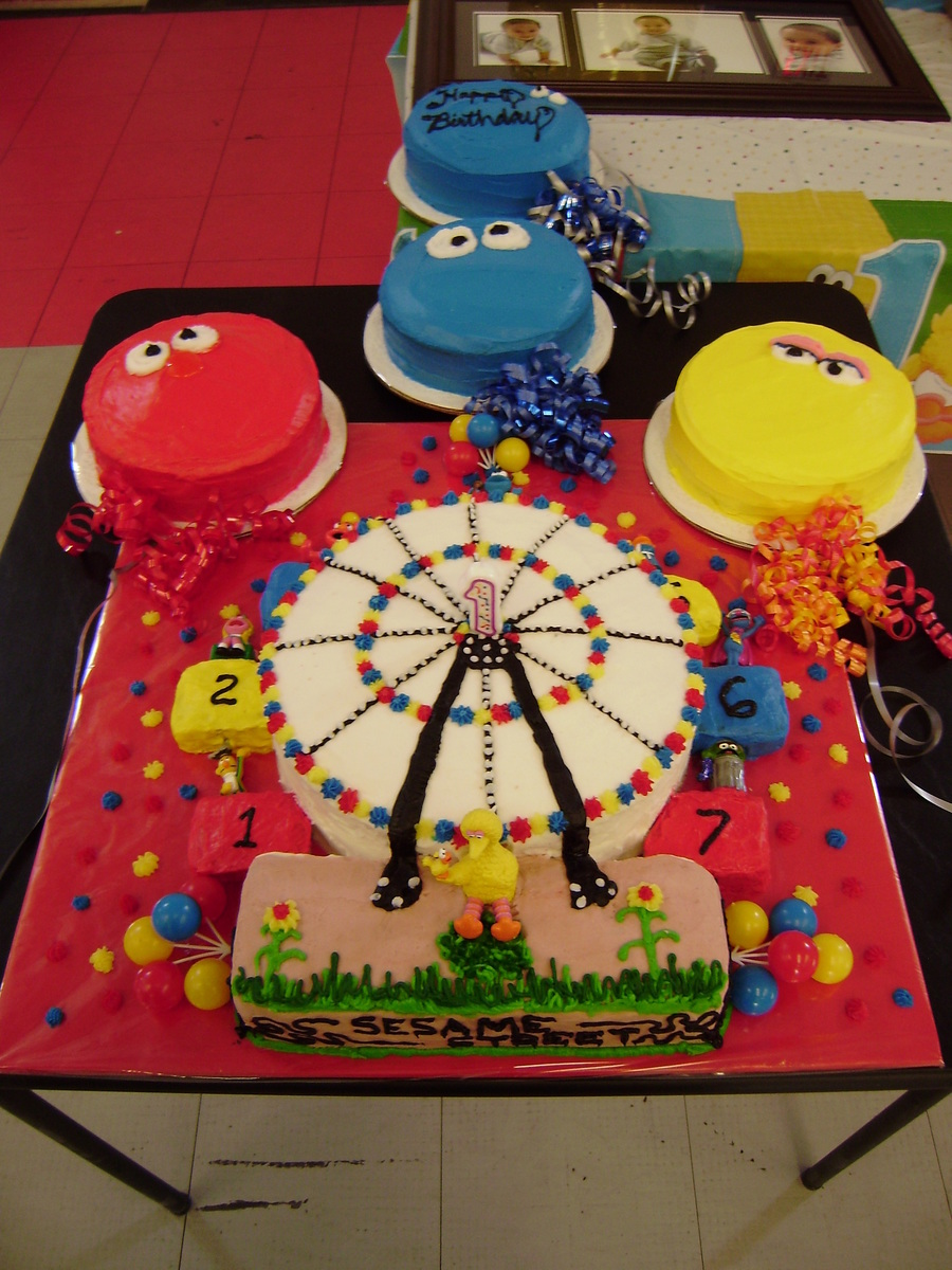 Sesame Street Ferris Wheel Cake Cakecentral