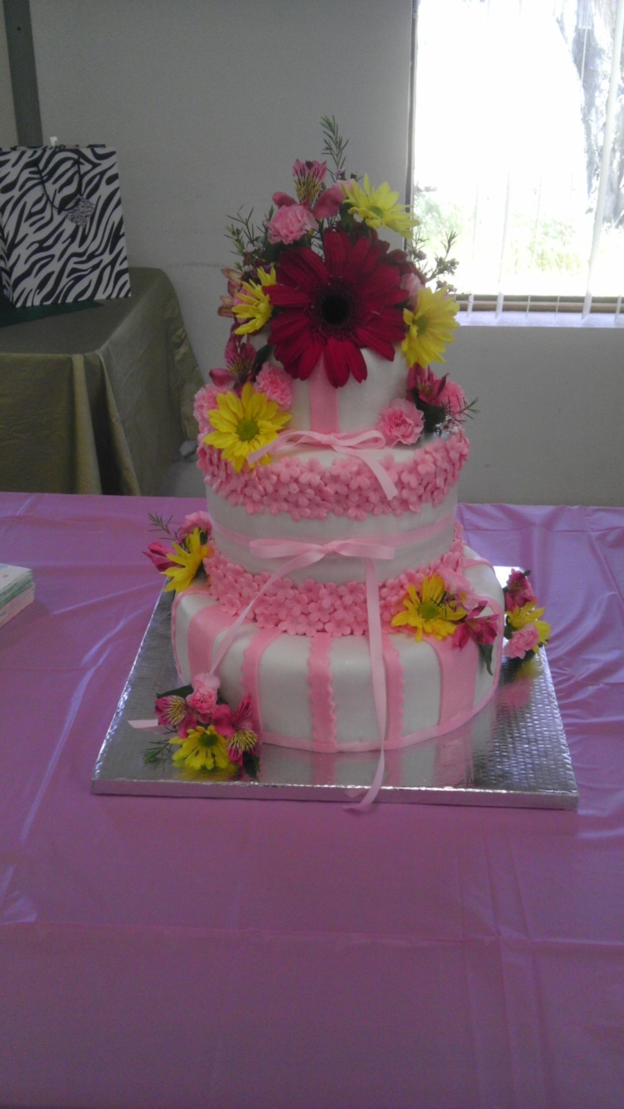 Pink Floral Baby Shower on Cake Central