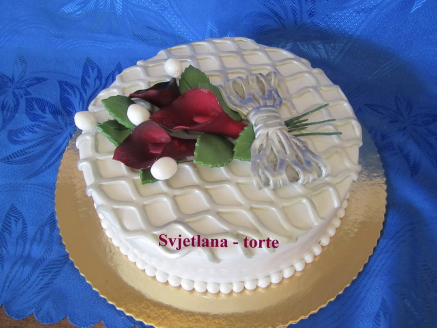 Calla Lilies on Cake Central