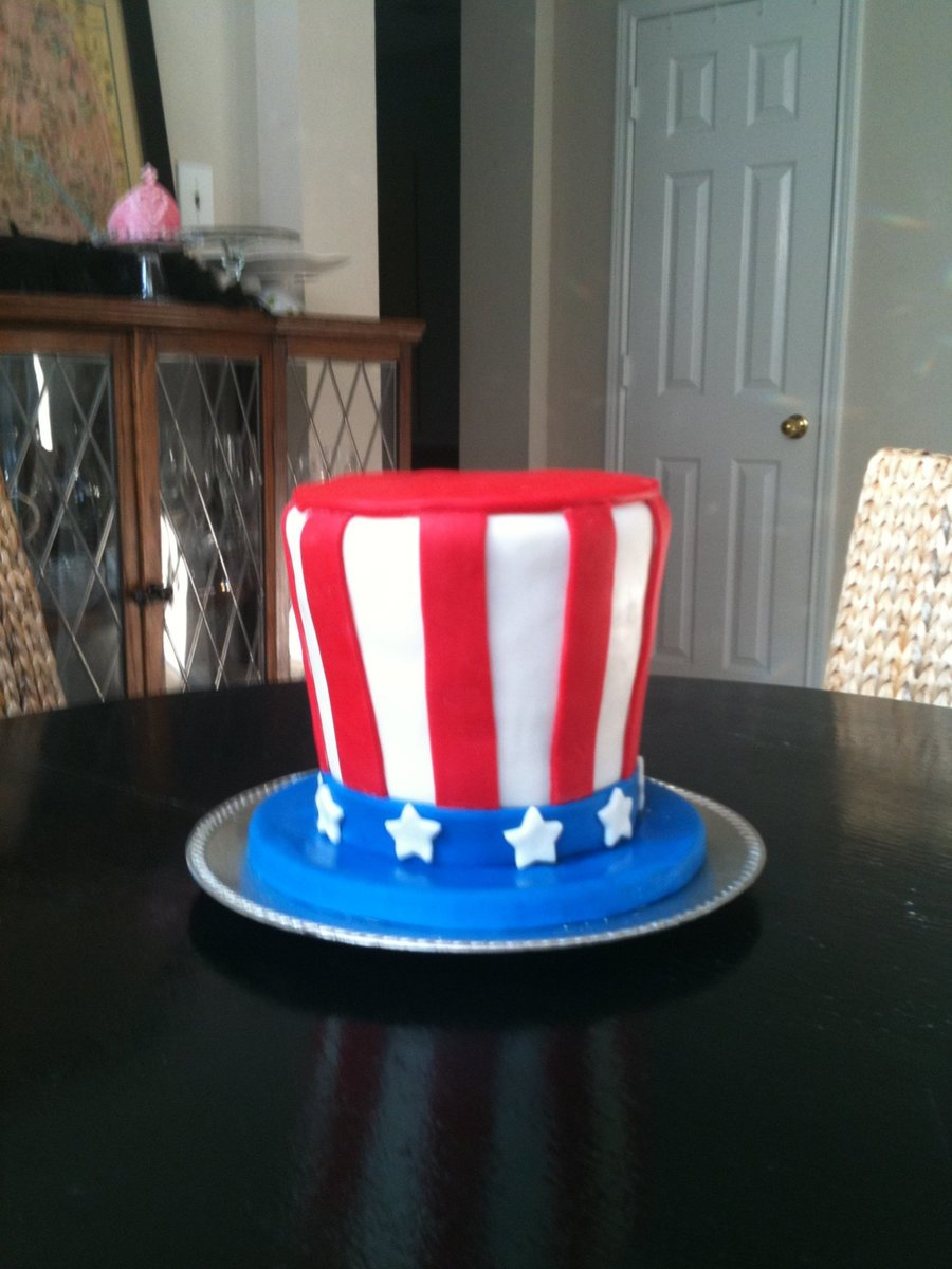 Uncle Sam Hat Cake on Cake Central