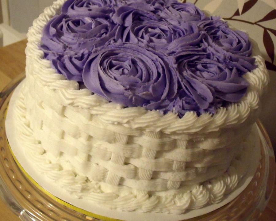 Rose Basket Weave Cakecentral Com