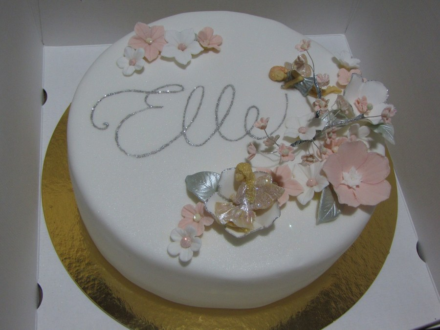 Flowers And Fairies  on Cake Central