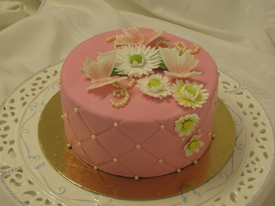 Pink Cake With Bling on Cake Central