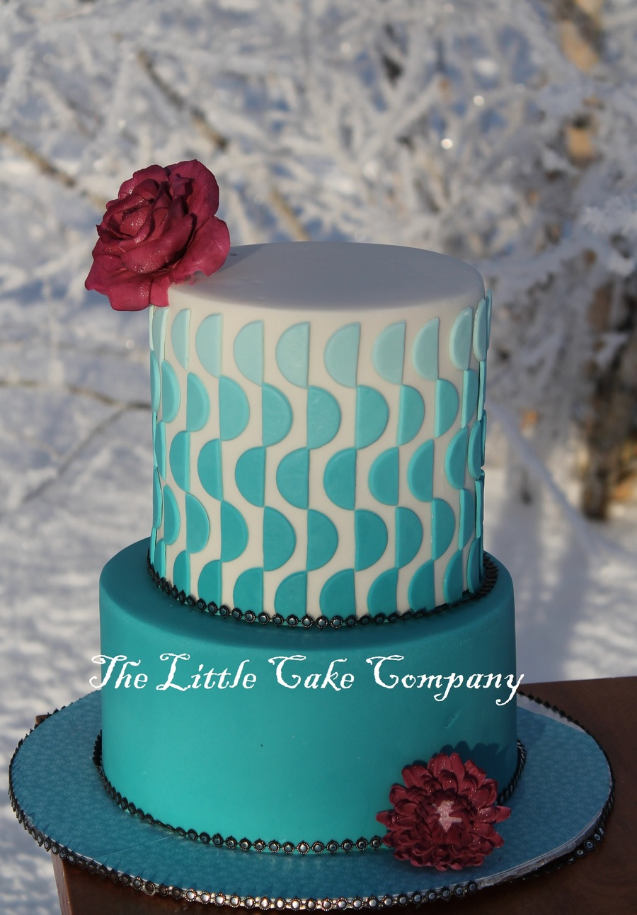 Teal Wedding Cake Cakecentral Com