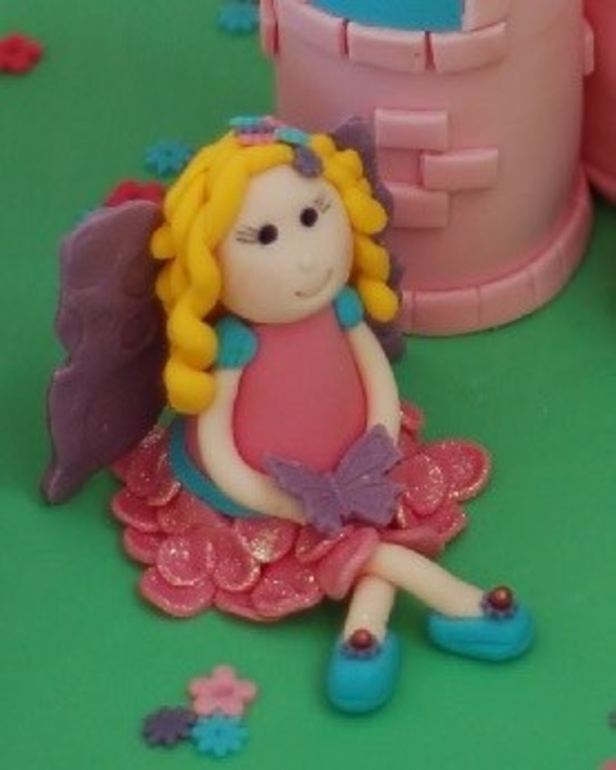 Fairy Figure For My Daughters Fourth Birthday Made With Fondant on Cake Central