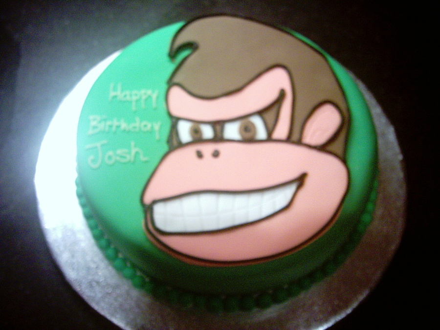 Magnificent Donkey Kong Birthday Cake Cakecentral Com Funny Birthday Cards Online Amentibdeldamsfinfo