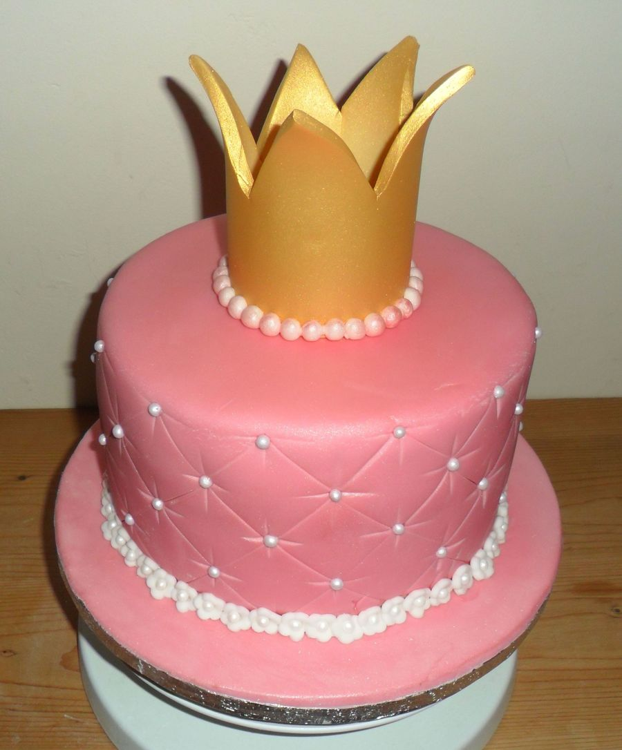 Cake Decoration Crown : Princess Crown Birthday Cake - CakeCentral.com