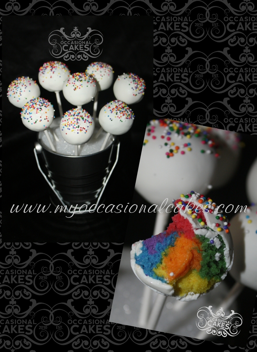 Rainbow Cake-Pops on Cake Central