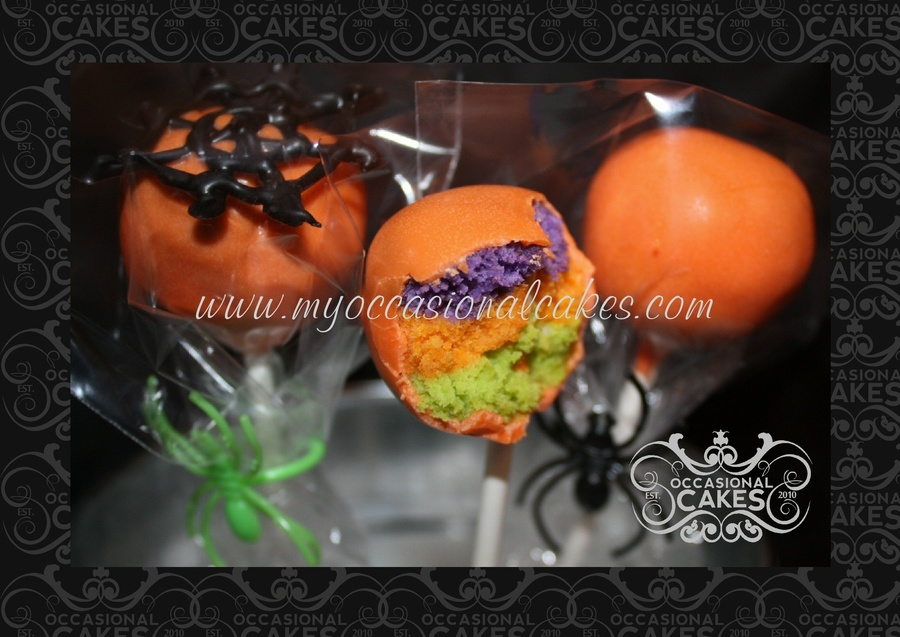Halloween Tri-Color Cake Pops on Cake Central