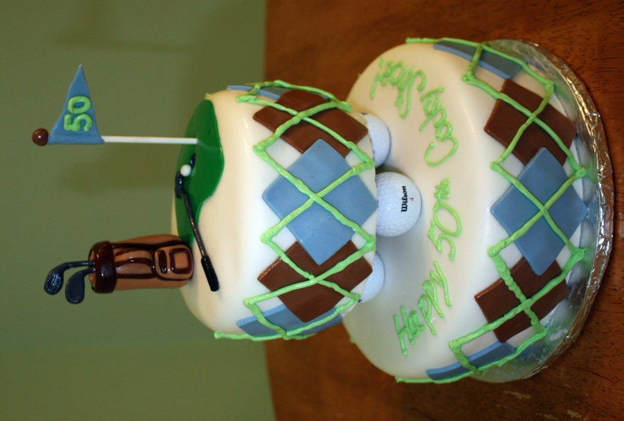 Golfer's 50Th Birthday Cake on Cake Central