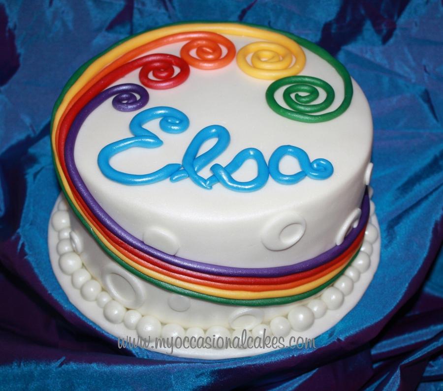 Rainbow Cake Cakecentral Com
