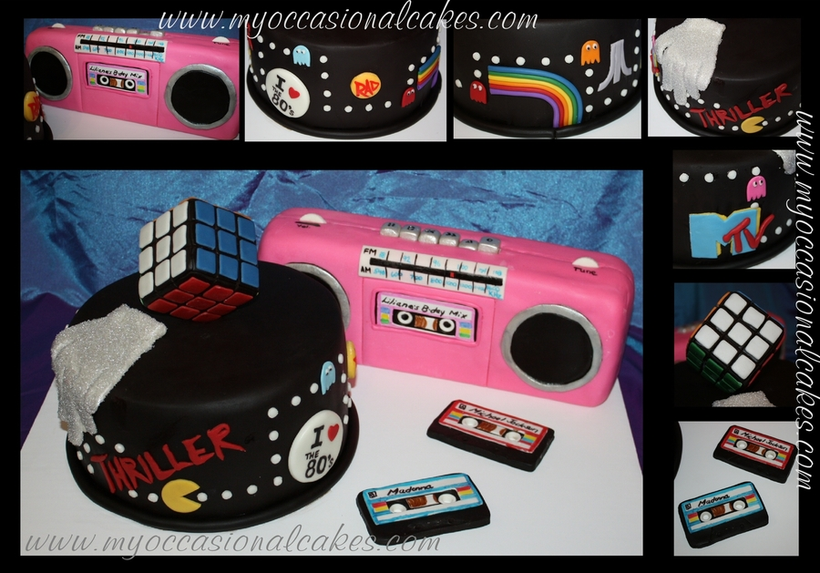 Totally Awesome 80's Cake on Cake Central