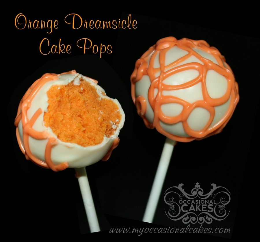 Orange Dreamsicle Cake Pops on Cake Central