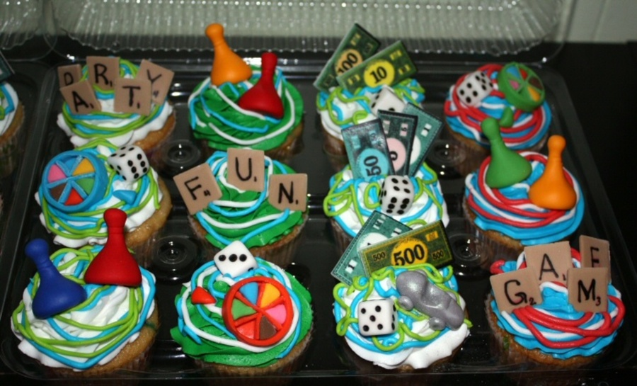 Game Night Cupcakes  on Cake Central