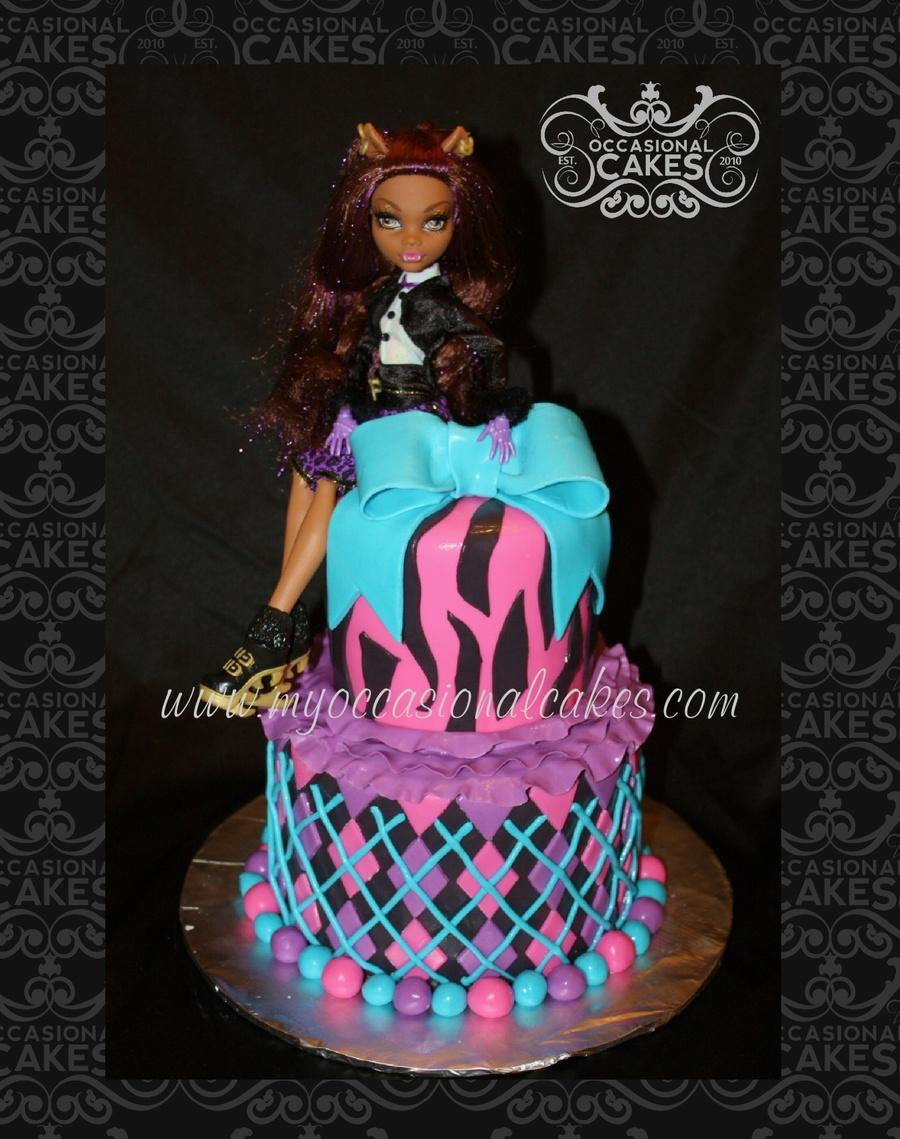 Monster High Clawdeen Wolf Birthday Cake