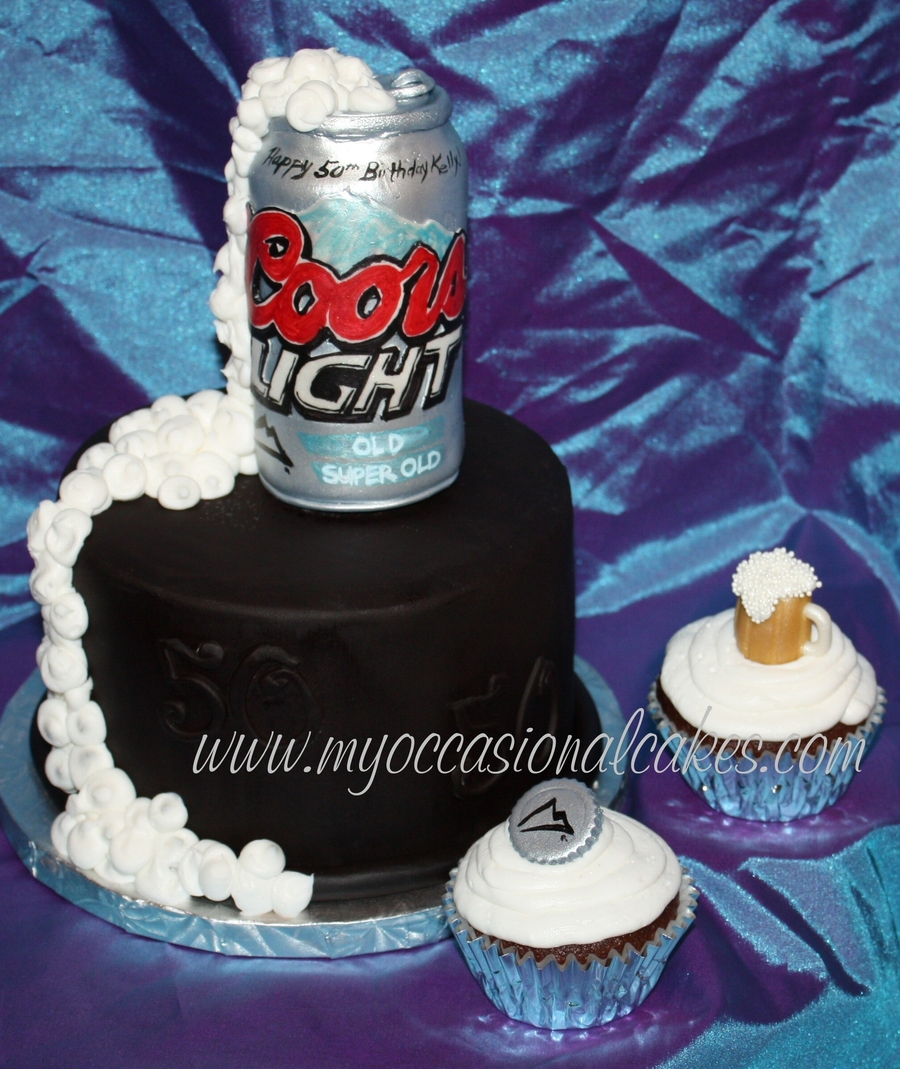 Coors Light(R) Cake & Cupcakes on Cake Central