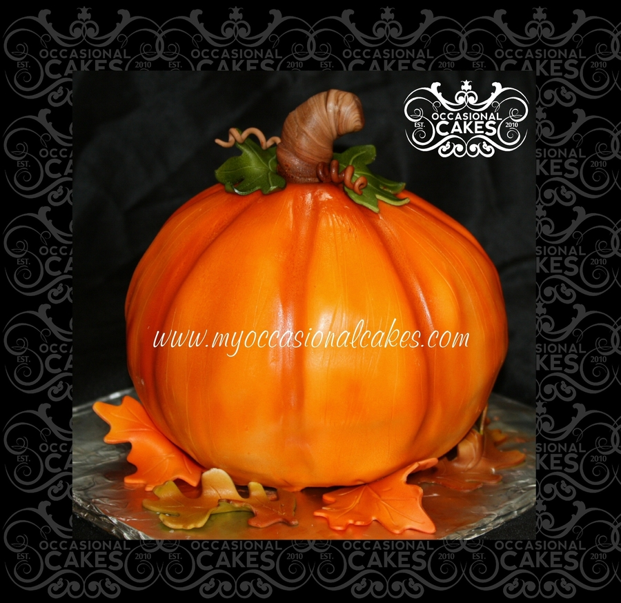 3-D Pumpkin Cake on Cake Central