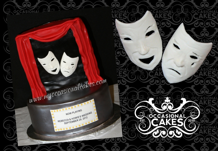 Drama Themed Groom's Cake on Cake Central