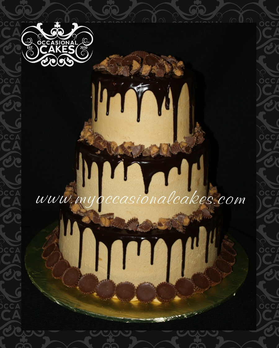 Chocolate-Peanut Butter Cup Cake on Cake Central