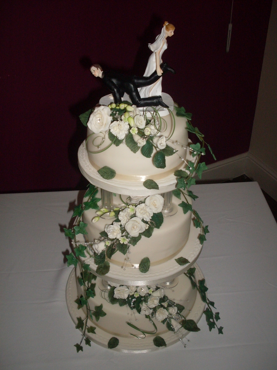 Traditional Wedding Cake on Cake Central