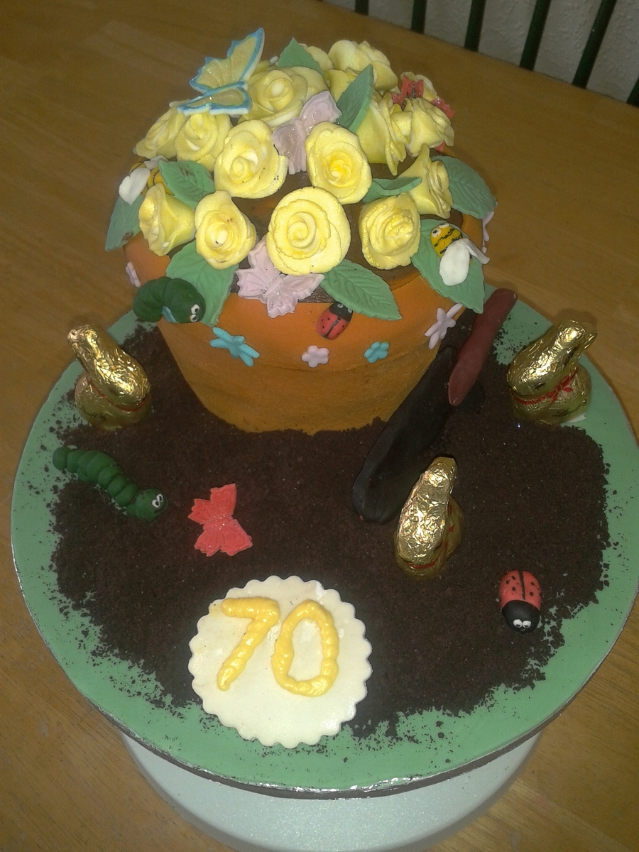 Flower Pot :) on Cake Central