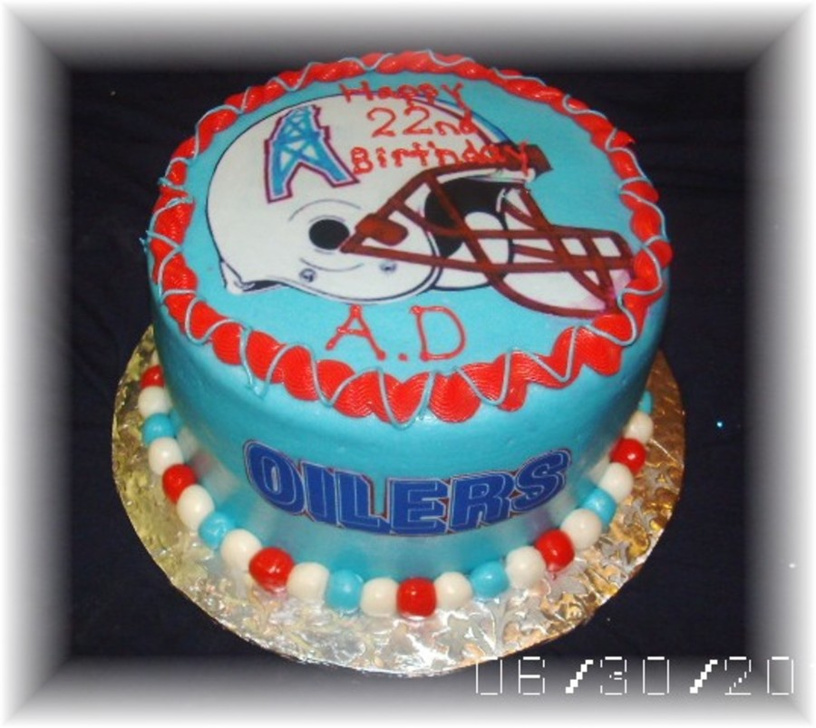 Houston Oilers Cake On Central