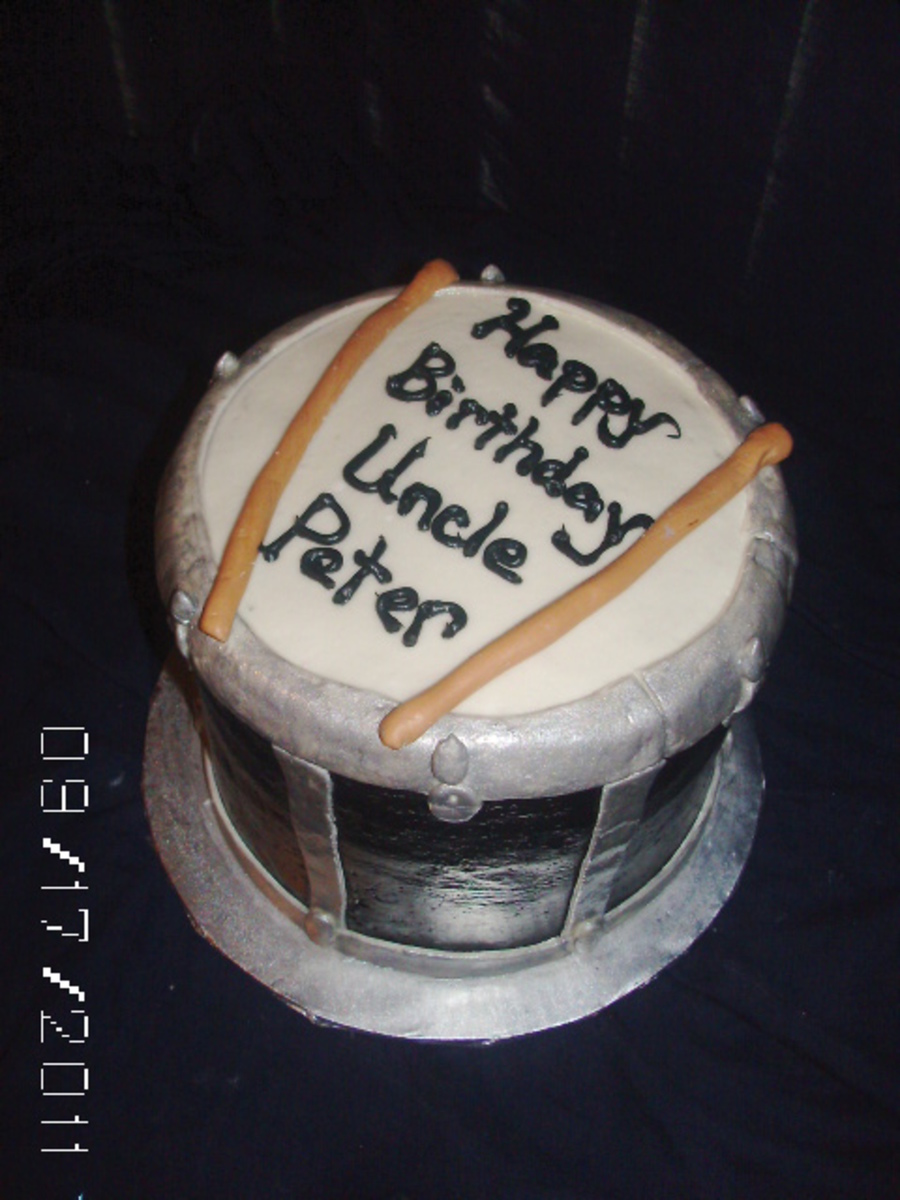 Music Drum Cake on Cake Central