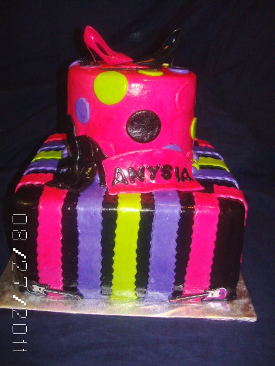 Fashion Neon on Cake Central