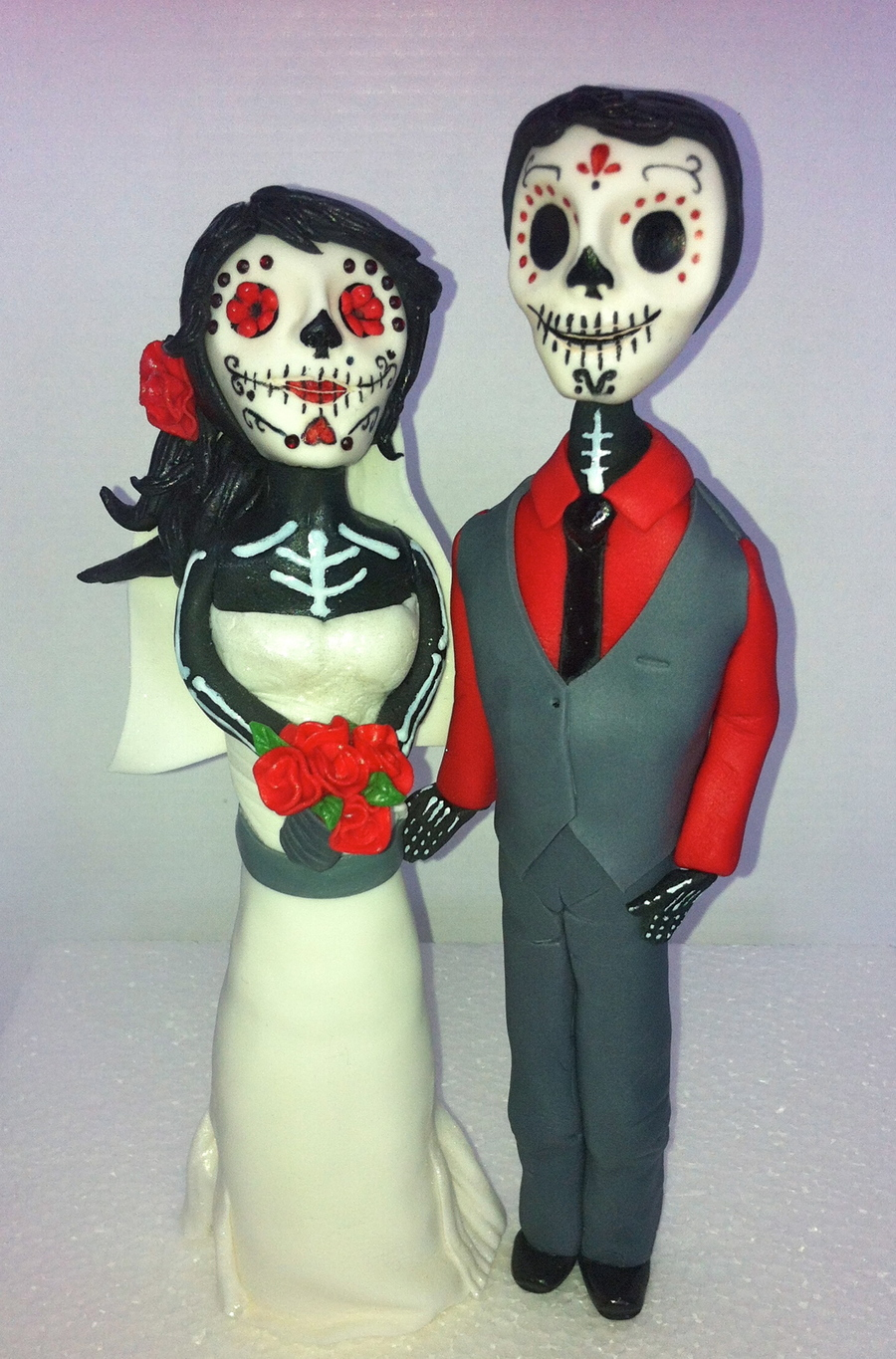 This Is A Day Of The Dead Bride And Groom I Made For A Friends Wedding Cake In Mexico The Figures Are Made From Fondant And Theyre Fac on Cake Central