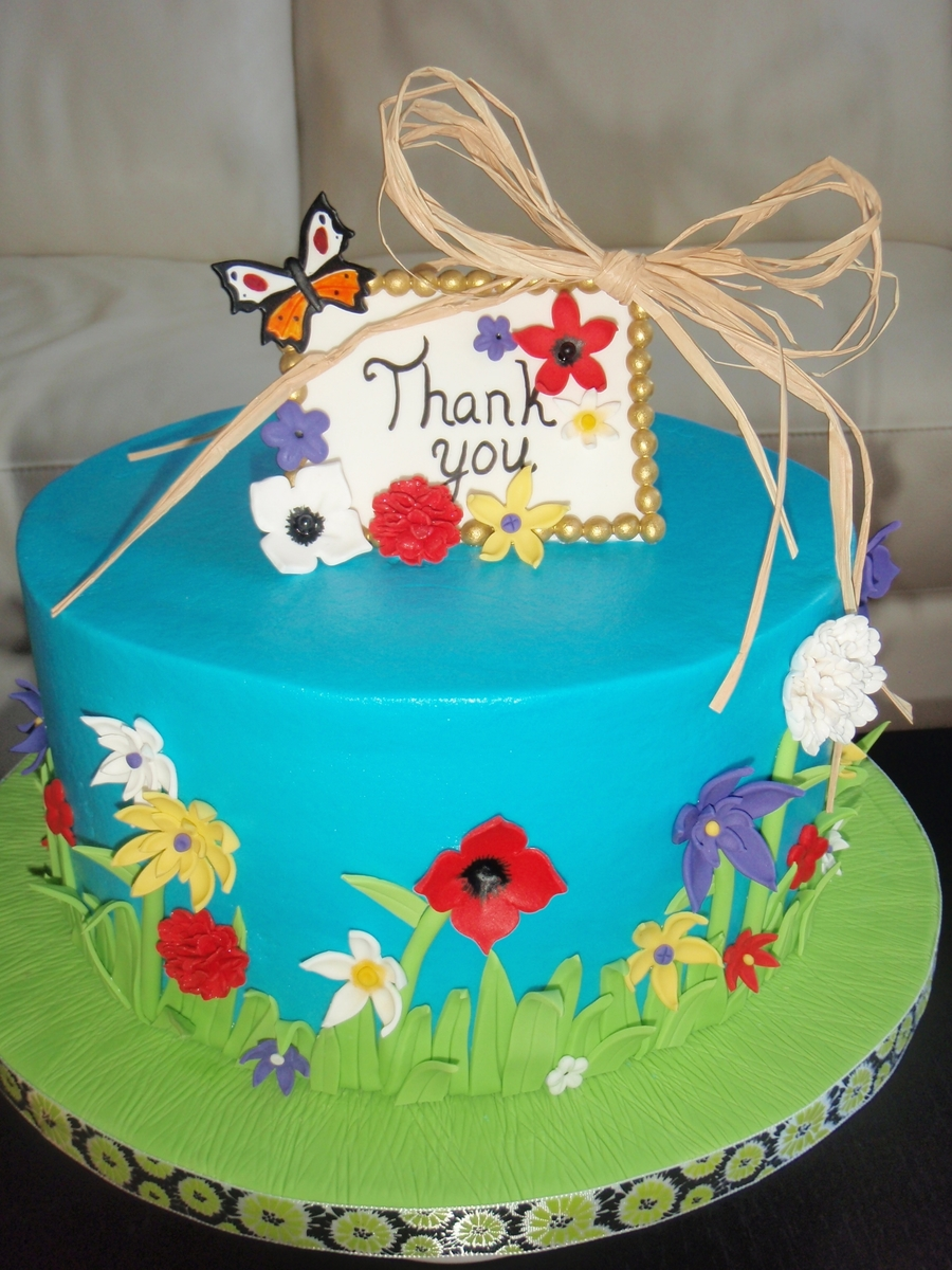 Thank You Cake - CakeCentral.com