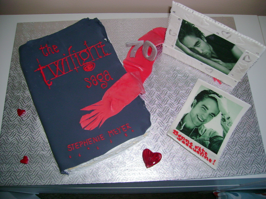 Old Twilight Book And Frames on Cake Central